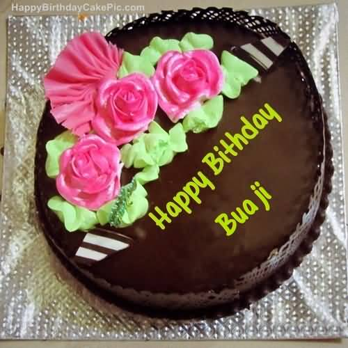 Happy Birthday Bua Ji With Chocolate Cake
