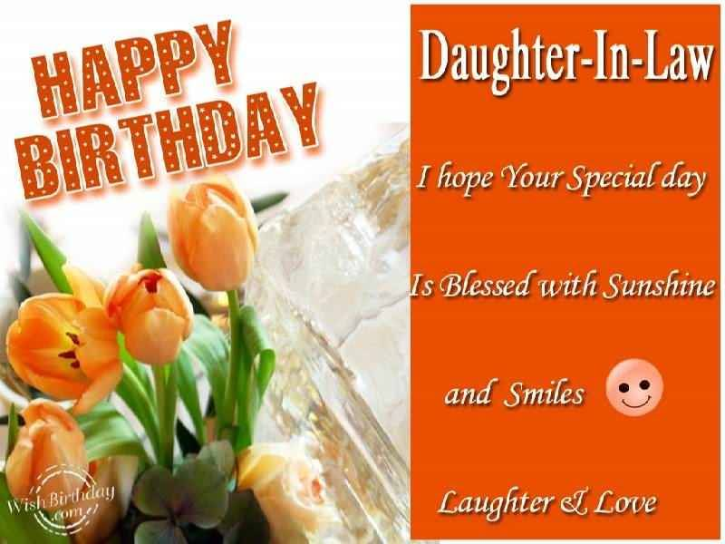 Happy Birthday Daughter In Law I Hope Your Special Day