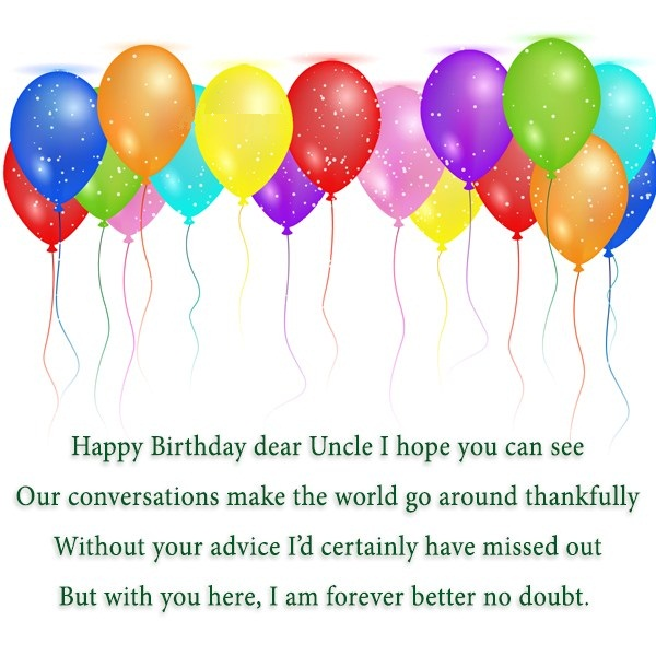 Happy Birthday Dear Uncle I Hope You Can See Our Conversation Make The World Go Around Thankfully