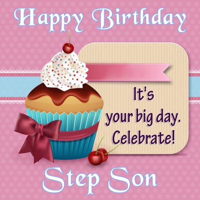 Happy Birthday It's Your Big Day Celebrate Step Son