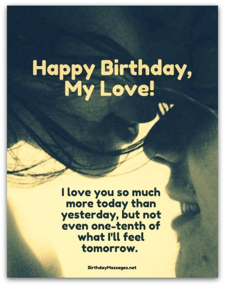 Happy Birthday My Love I Love You So Much More Today Than Yesterday
