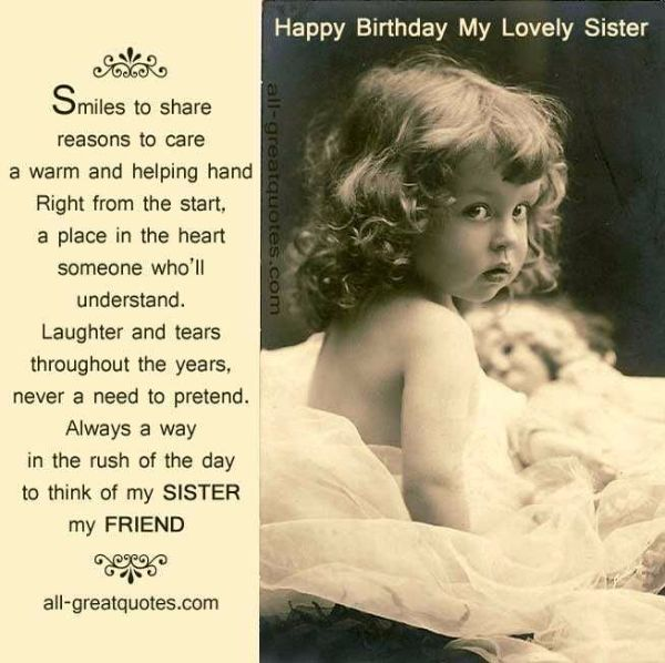 Happy Birthday My Lovely Sister