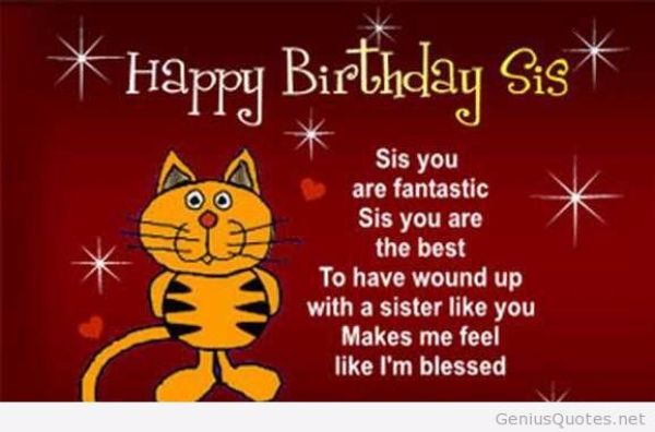 Happy Birthday Sis Sis Yo Are Fantastic Sis You Are The Best