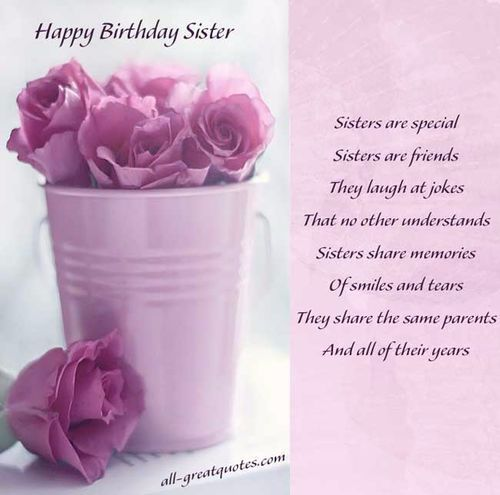 Happy Birthday Sister Are Special Sister Are Friend