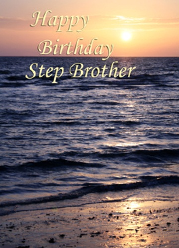Happy Birthday Step Brother