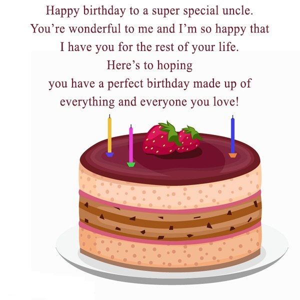 Happy Birthday To A super Special Uncle  Here's To Hoping You Have A Perfect Birthday Made Upi
