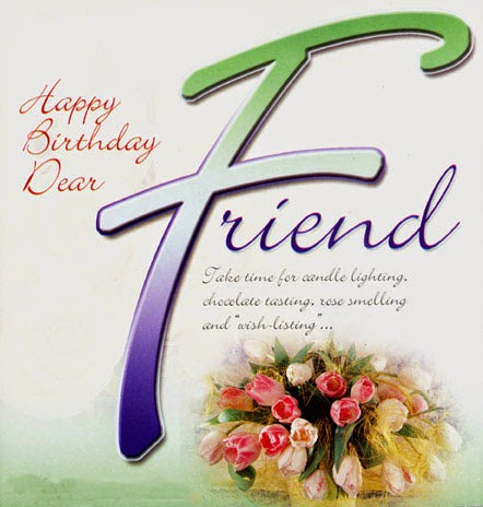 Happy birthday to dear friend take time for candle lighting