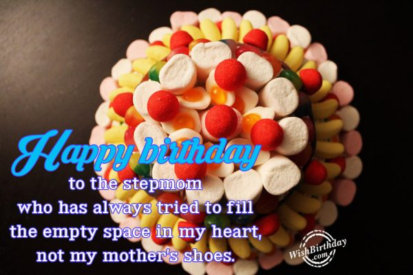 Happy Birthday To The Stepmom Who Has Always Tried To Fill The Empty Space In My Heart Not My Mother's shoes