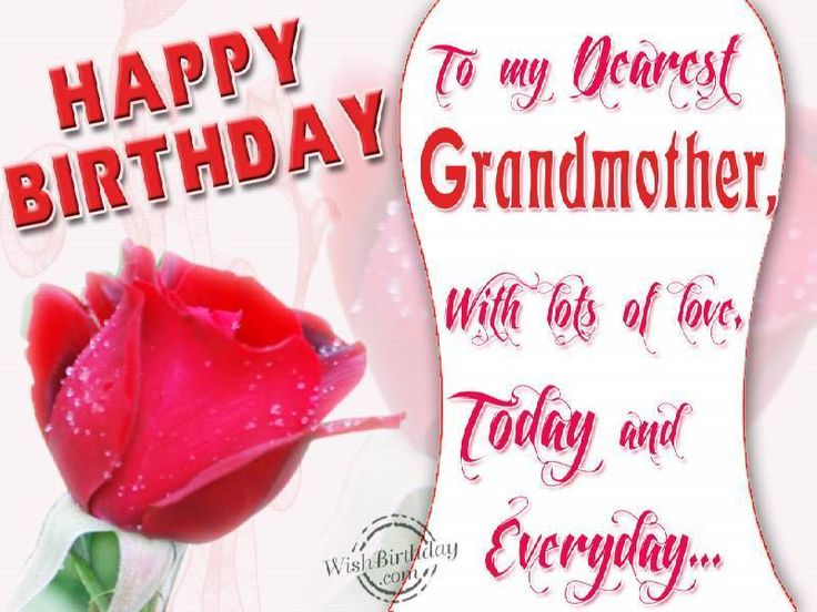 Happy Birthdya To My Dearest Grandmother With Lots Of Love Today And Everyday