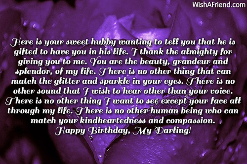 Here Is Your Sweet Hubby Wanting To Tell You That SHe Is Gifted To Have You In His Life Happy Birthday My Darling