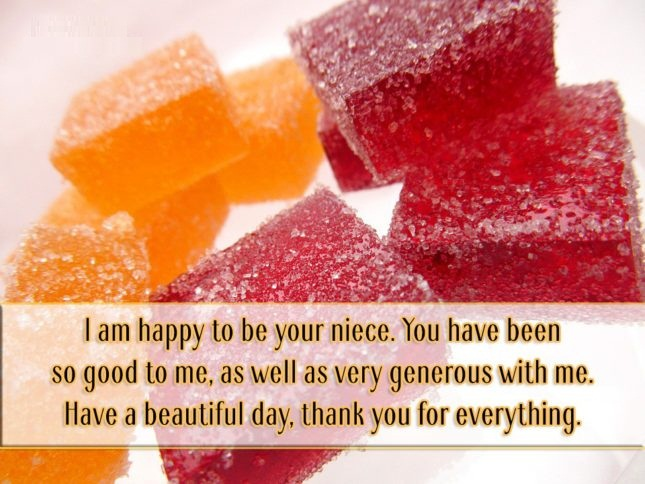 I Am Happy to Be Your Niece You Have Been So Good To Me As well As Very Generous