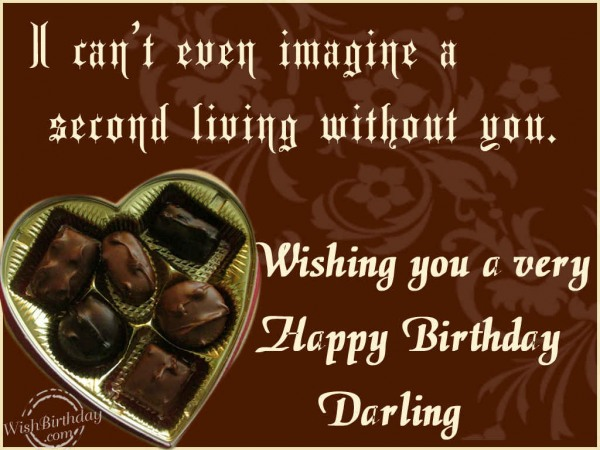 I Can't Even Imagine A Special Living Without You Wishing You A Very Happy Birtdhay Darling
