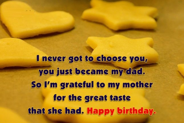 I Never Got To Choose You For The Great Taste That She Had Happy Birthday