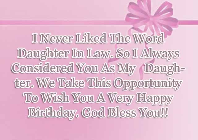 I Never Liked The Word Daughter In Law So I Always Considered You As My Daughter Nice Wishes