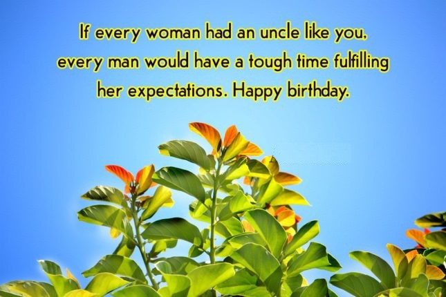 If Ever Woman Had An Uncle Like You Happy Birthday