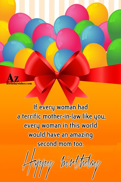 If Every Woman Had A terrific Mother In Law like You Every Woman In This World Woould  Happy Birthday