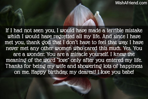 If I HAd Not Seen You I would Have Made A Terrible Mistake I Love You Babe Happy Birthday