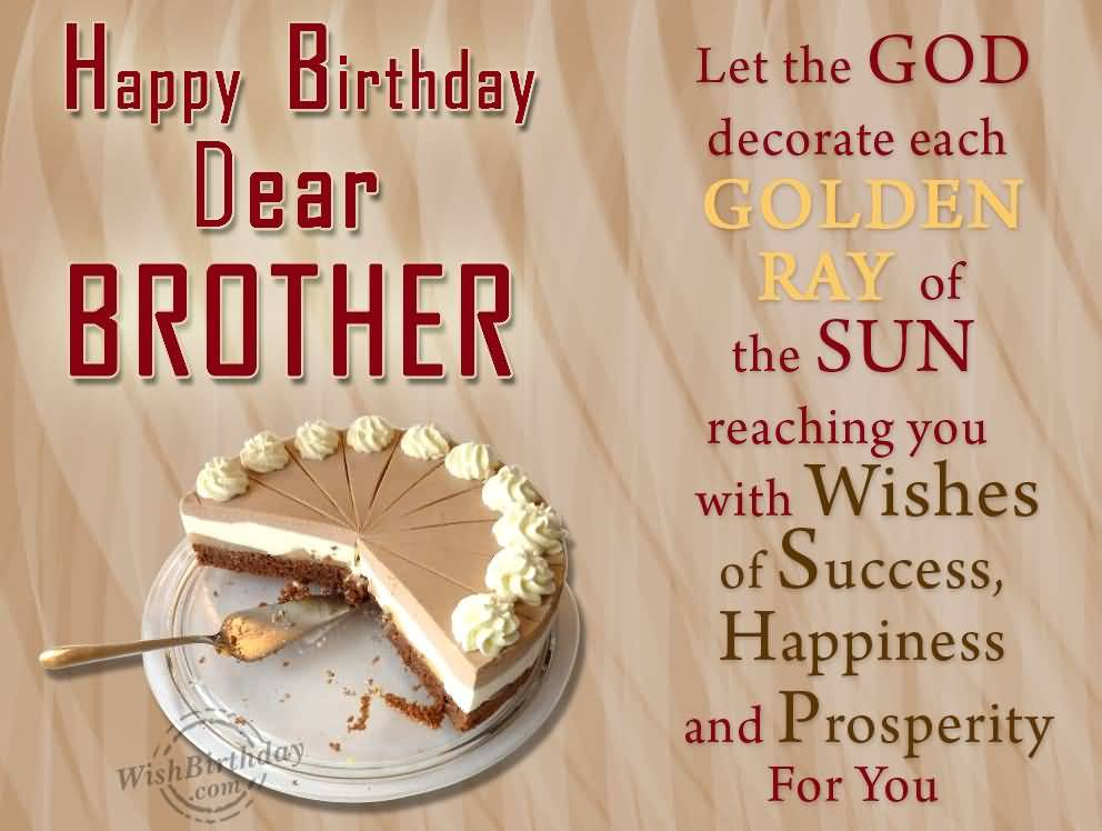 Let The GOD Decorate Golden Ray Happy Birthday Brother