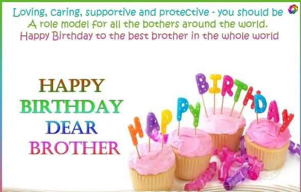 Loving Caring Supportive And Protective You Should Be A Happy Birthday  Brother