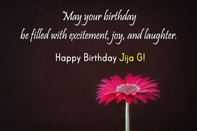 May Your Birthday Be Filled With Excitement Joy And Laughter Happy Birthday Jija g