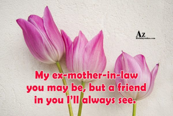 My Ex Mother In Law You May Be But A  Friend In You I'll Always See