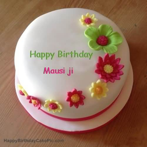 Nice Cake To Happy Birthday Mausi Ji
