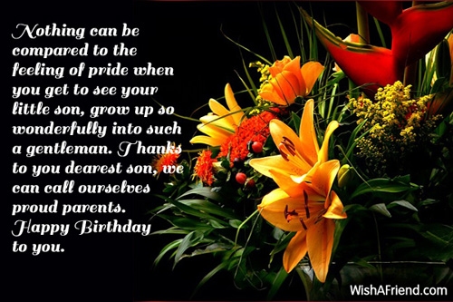 Nothing Can Be Compared To The Feeling To Pride Happy Birthday