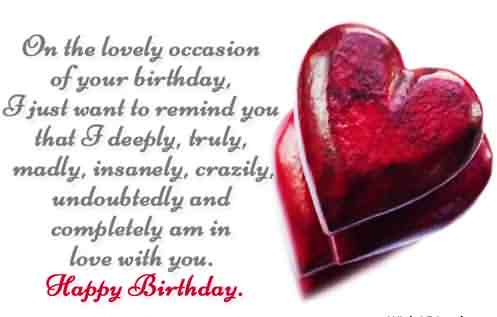 On The Lovely Occasion Of Your Birthday I JUst Want To Remind Happy Birthday