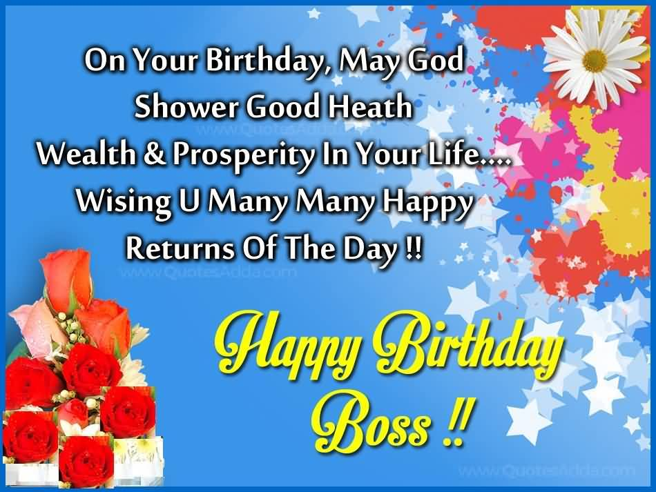Happy Birthday Message Good Health ~ On your birthday may god shower good health many happy returned of the day