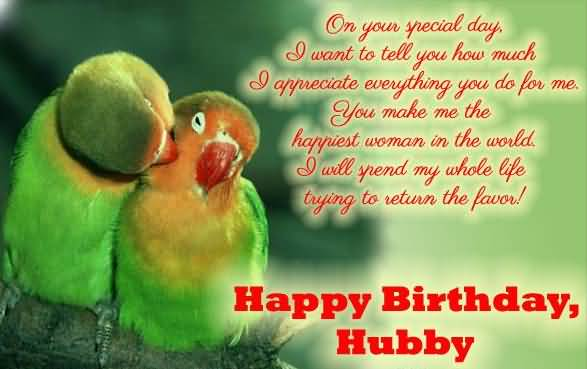 On Your Birthday special Day I Want To Tell You How Much Happy Birthday Hubby