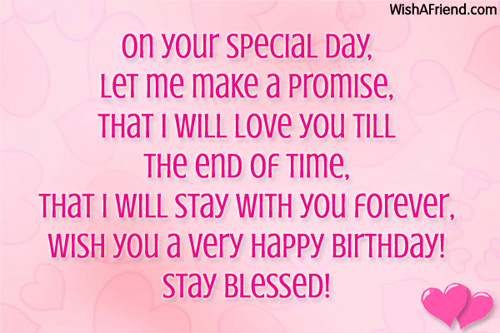 On Your Special Day Let Me Make A Promise Wish You A Very Happy Birthday Stay Blessed