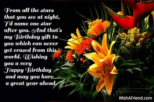 Prom All The Star That You See At Night Happy Birthday And May You Have A Great Year A Head