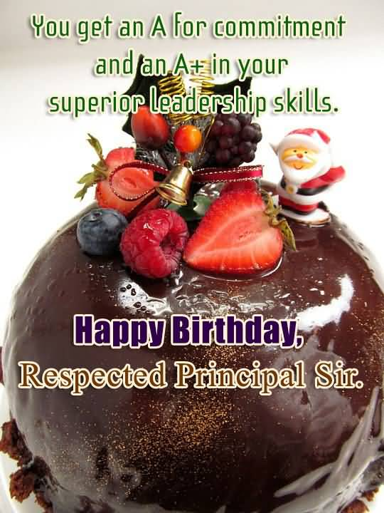 Superior Leadership Skill Happy Birthday Respected Principal Sir
