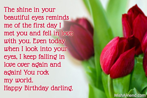 The Shine In You Beautiful Eyes Remind Me Of The First Day Happy Birthday Darling