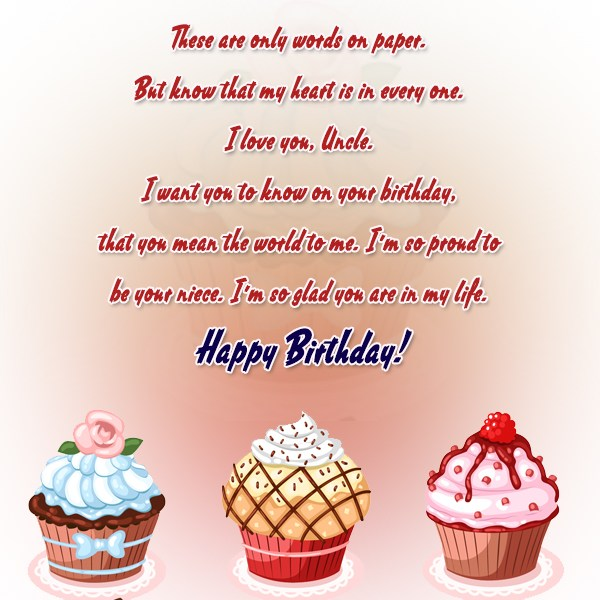 These Are Only Words On Paper I'm So Glad You Are In My Life Happy Birthday