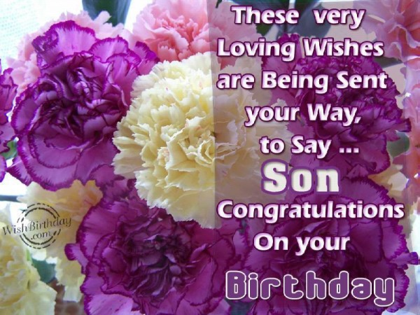 These Very Loving Wishes Are Being Sent Your Way To Say Son Congratulation On Your Birthday