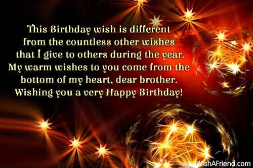 This Birthday Wish different From The Countless Wishing You A Very Happy Birthday