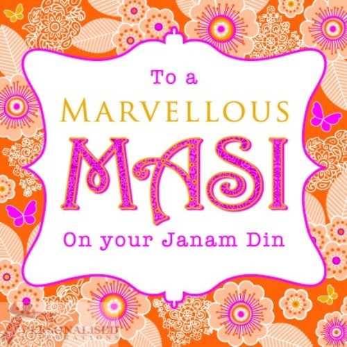 To A Marvellous Masi On Your Janam Di