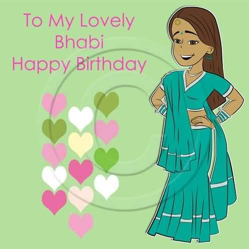 To My Lovely Bhabhi Happy Birthday