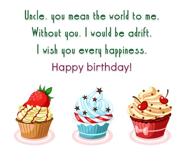 Uncle You Mean The World To Me Without You I Wish You Evry Happiness Happy Birthday
