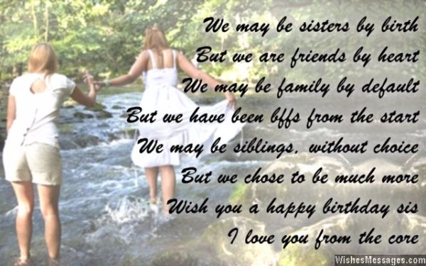 We May Be Sisters By Birth But We Are Friends By Heart I Love You From TheCare