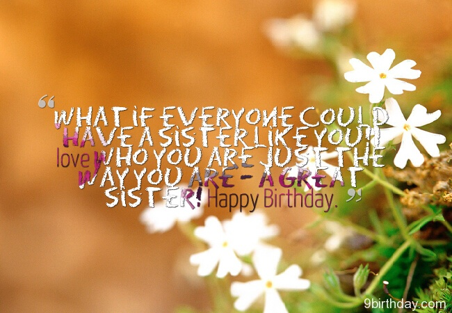 What If Everyone Coould Have A Sister Like You Happy Birthday