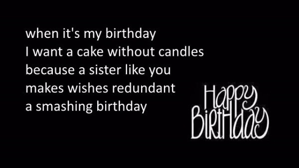 When It's My Birthday I Want A Cake Without Candle Happy Birthday