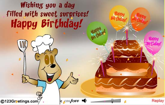 Wishing You A Day Filled With Sweet Surpries Happy Birthday