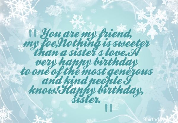 You Are My Friend Happy Birthday Sister