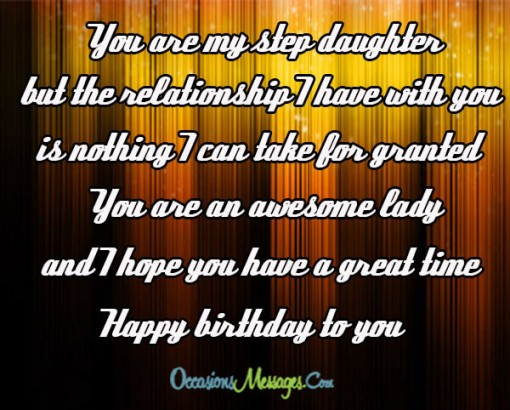 You Are My Step Daughter I Hope You Have A Great Time Happy Birthday To You