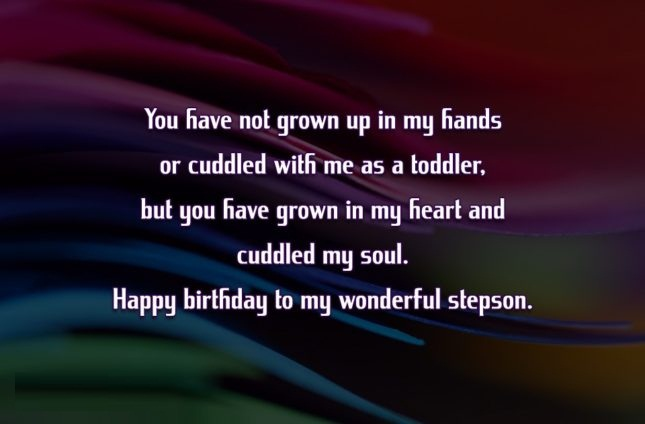You Have Not Grown Up In My Hands Or Cuddled With Me As A Toddler Happy Birthday To My Wonderful Stepson