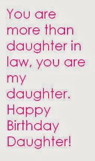 You're More Than Daughter In Law You Are My Daughter Happy Birthday Daughter