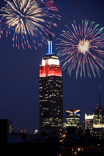 Celebration 4th Of July Firework At Empire State Building