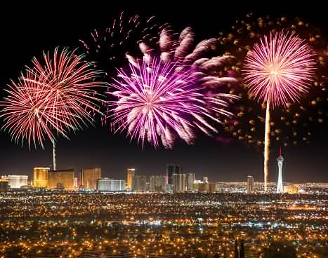 Fireworks In Las Vegas On 4th Of July